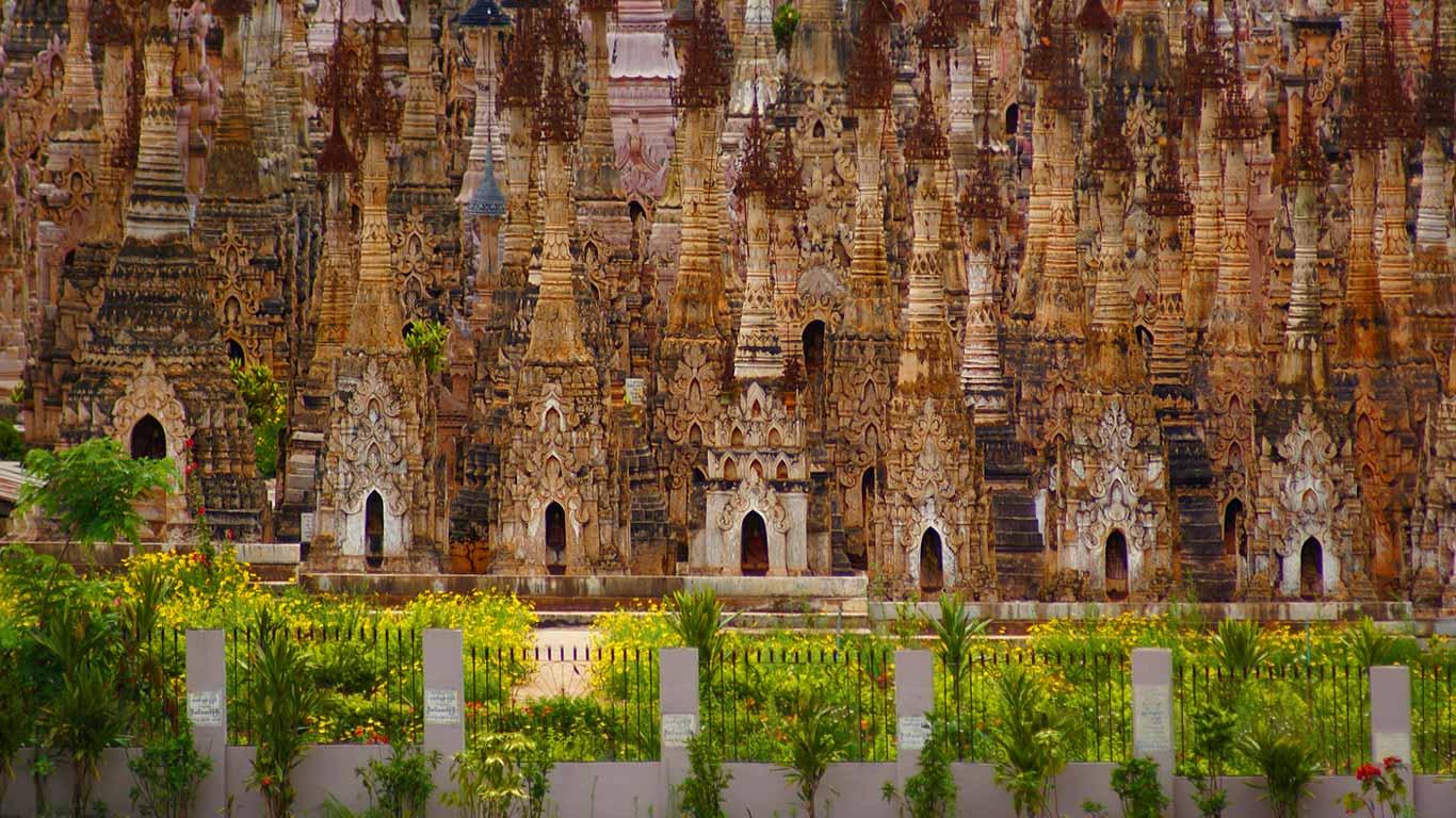 Stupas in Kakku, Shan State, Myanmar wallpaper by T1000
