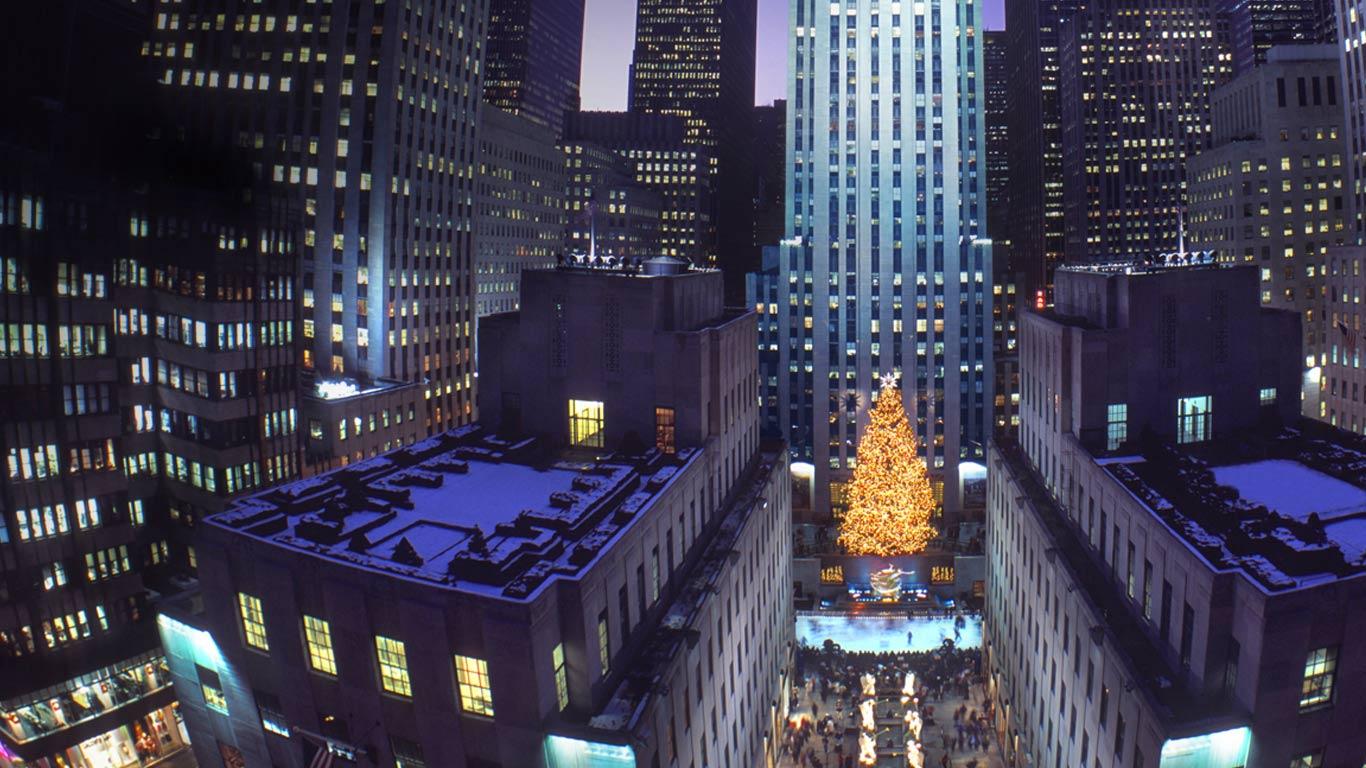 Рождество нью йорк обои 2