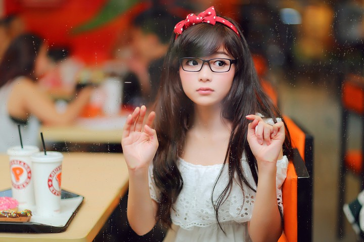 Asian Girl with Glasses