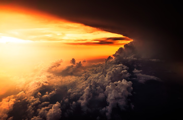 Aerial, Cloud, Horizon, Sunset Hd
