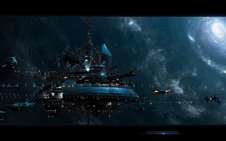 Alexwild Deviantart Com Sci Fi Futuristic Space Spaceships Spacecrafts Stars Galaxies Nebula Lights Windows Digital Art Cg 3d 1440x900