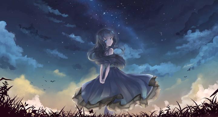 Anime Girls Under Blue Sky Wallpaper By Elirogers Revelwallpapers Net