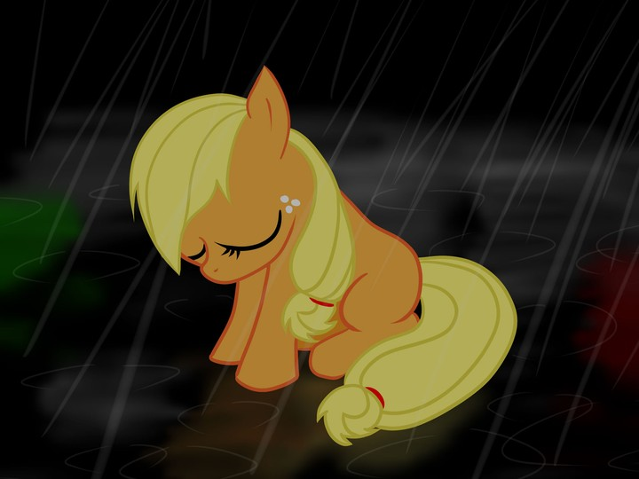 Applejack My Little Pony Rain
