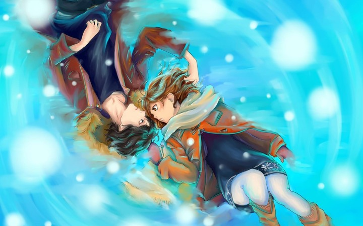 Anime Love Wallpapers: Art Anime Love Girl Boy In Winter Season Hd Wallpaper By