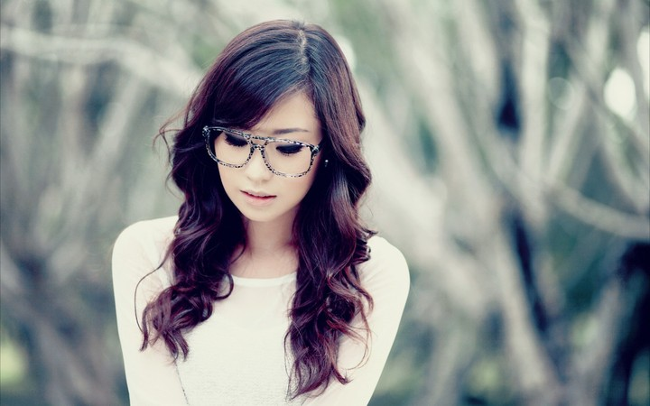Asian Girl Glasses