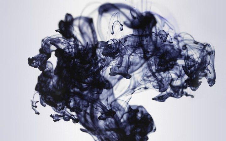 Black Ink In Water, art background