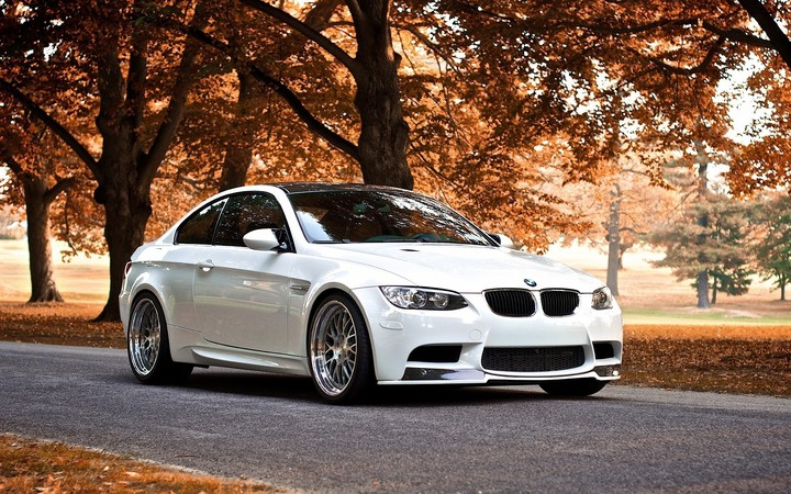 BMW M3 In The Autumn, car