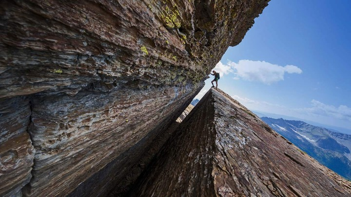 A climber in the Cabinet Mountains Wilderness in Montana