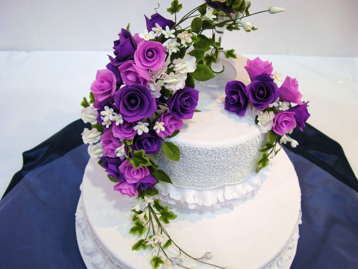 Cake Flowers Decoration Sweet Food For Birthday Wallpaper By