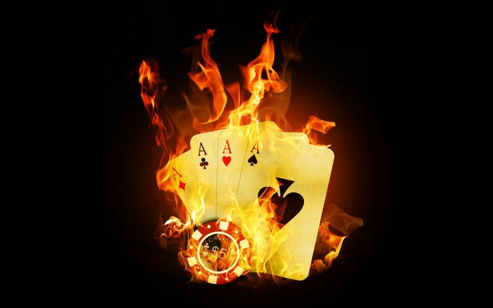 Cards Fire Ace Black Background