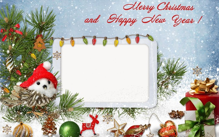 christmas card insert text happy new year for friend hd