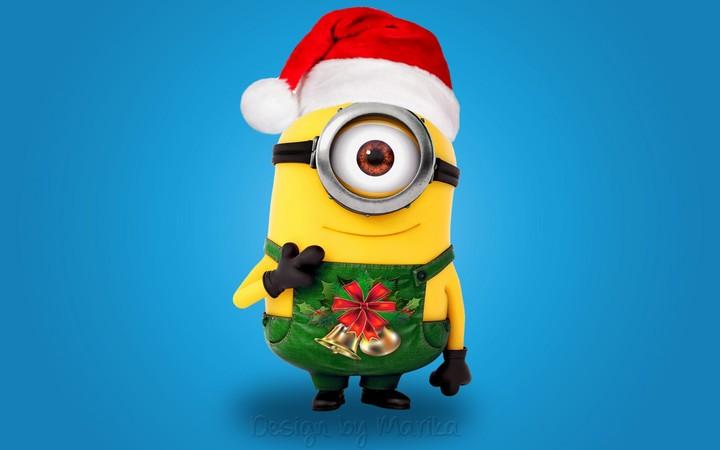 Christmas Xmas Minion Santa Cute Mignon Hd wallpaper by LadyGaga ...