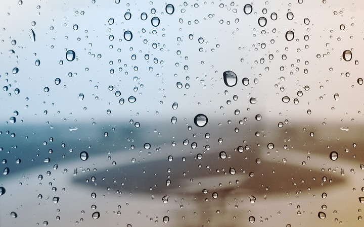 drop of water on mirror after rain