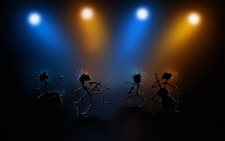 Dance Stage Performance Simulation Light