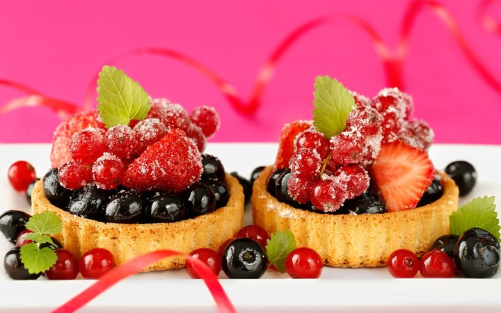 Delicious Food Dessert Cake Small Berries Strawberry 1920x1200