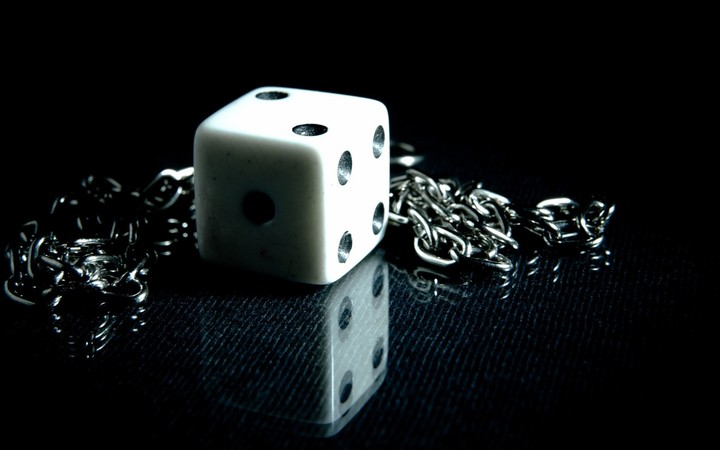 Dice Chain Metal Shadow, background your desktop