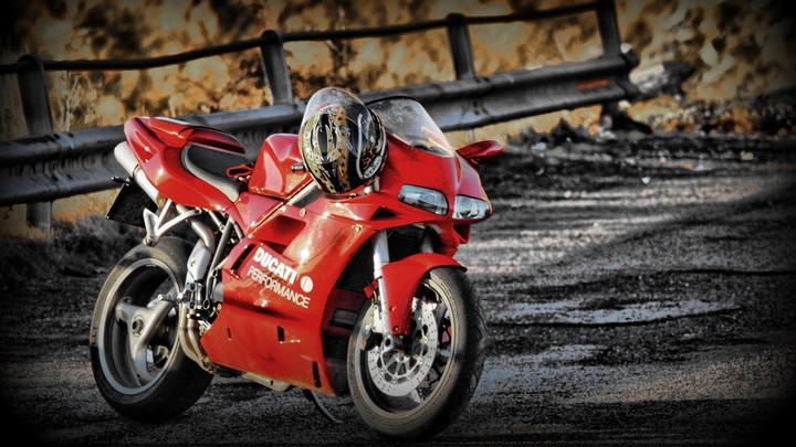 Ducati 748 Red Motorcycle