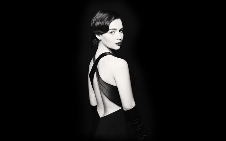 Emilia Clarke on Black background