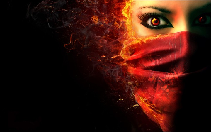 Fantasy Dark Horror Face Demon Evil Women
