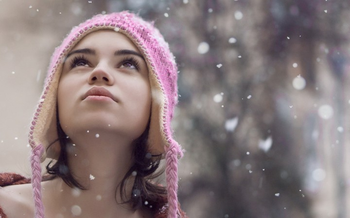 Girl In Snowflakes