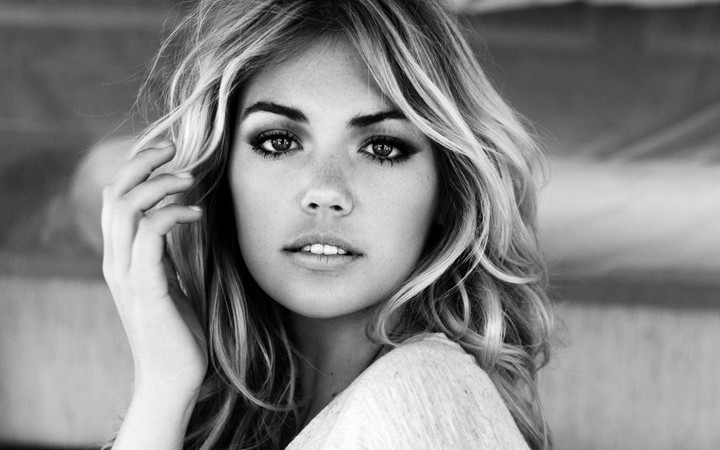 Grayscale Kate Upton Blonde Actress Girl Hd