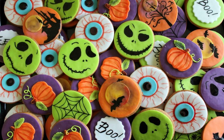 Halloween Cookies Holiday Background