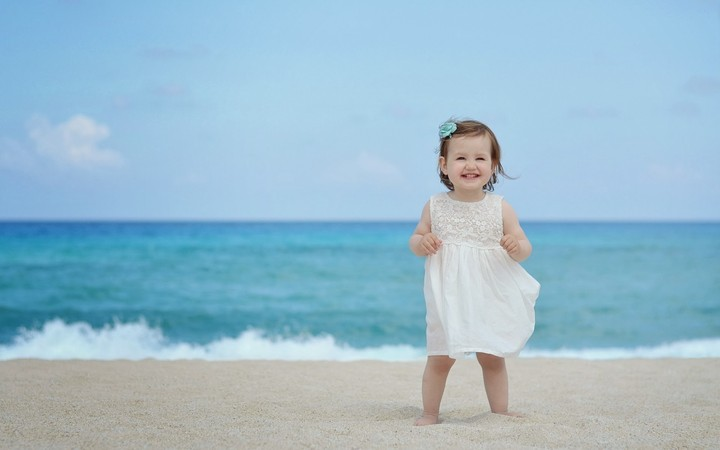Happiness beach girl
