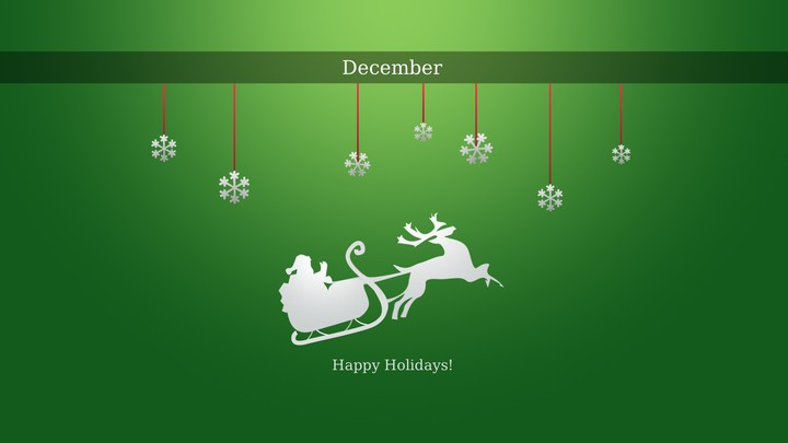 Happy December Holidays Christmas