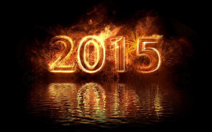 Happy New Year 2015 Gold Fire