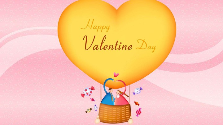 Happy Valentines Day Cartoon HD Background