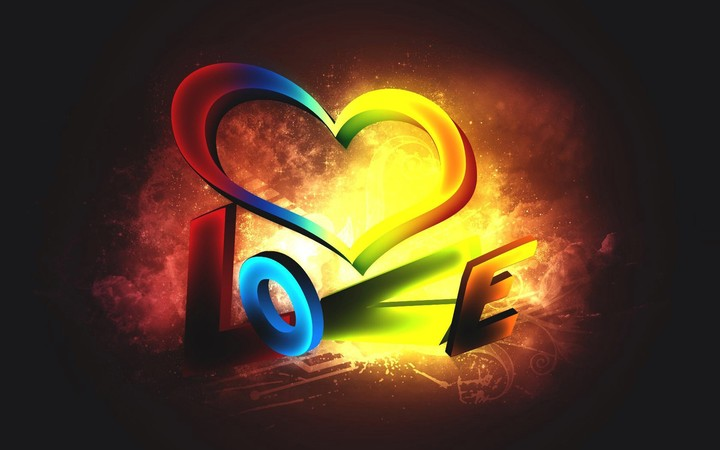 Heart Love Background 3d Photoshop Art Design Wallpaper By