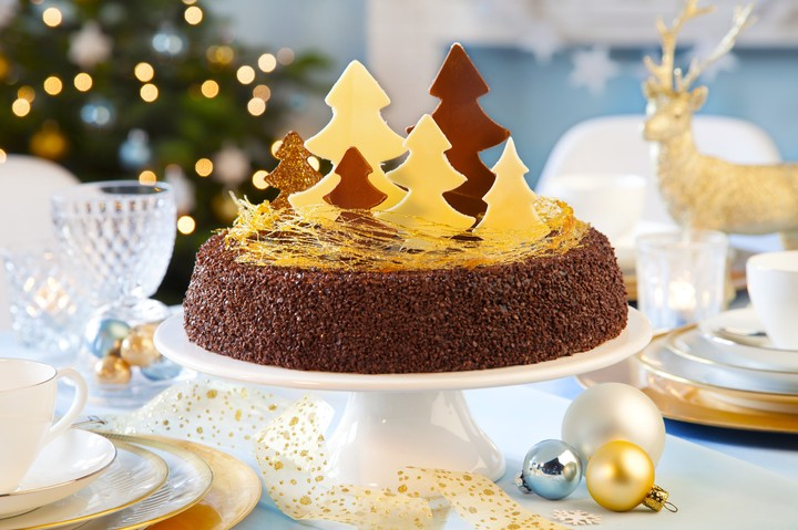 Holiday Merry Christmas Happy New Year Dessert Cake
