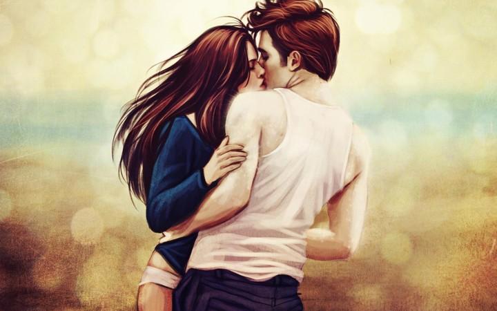 Kristen Stewart Robert Pattinson Girl Boy Kiss Artwork Love Hd