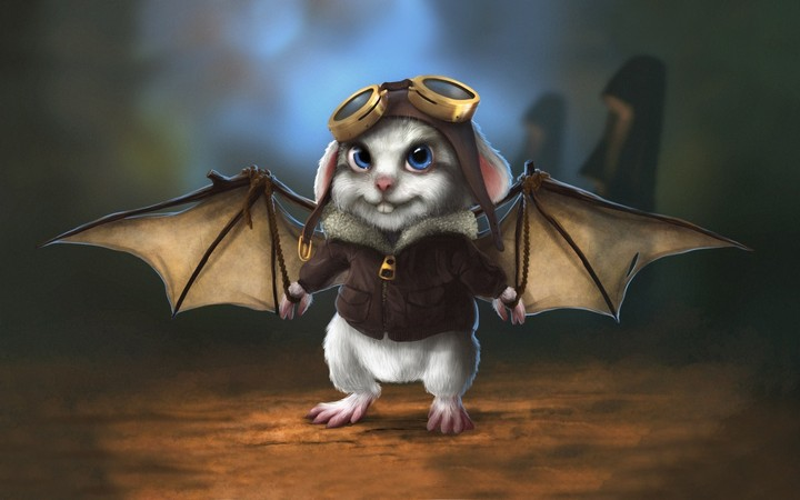 Little Mouse Pilot Cartoon Fantasy Hd