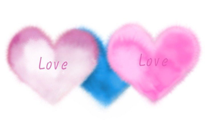 Pink Heart and Blue Heart
