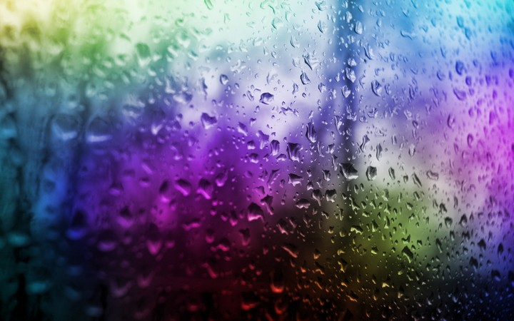 Raindrops on glass surface