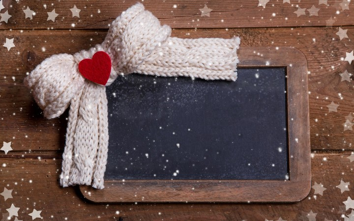 Merry Christmas Winter Snow Scarf Heart Love