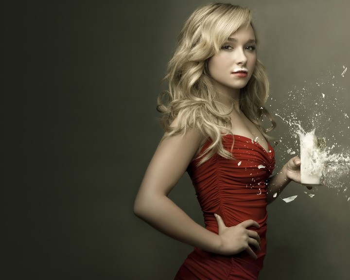 Milk Dress Explosion Spray Hayden Panettiere