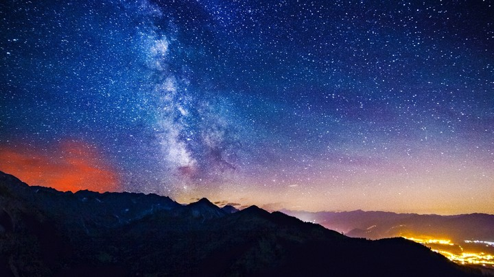 Milky Way, Mountains