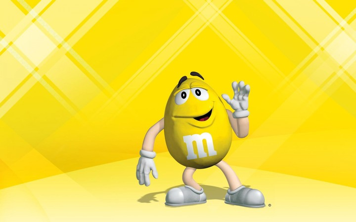 mms yellow character greetings funny wallpaper by marijane