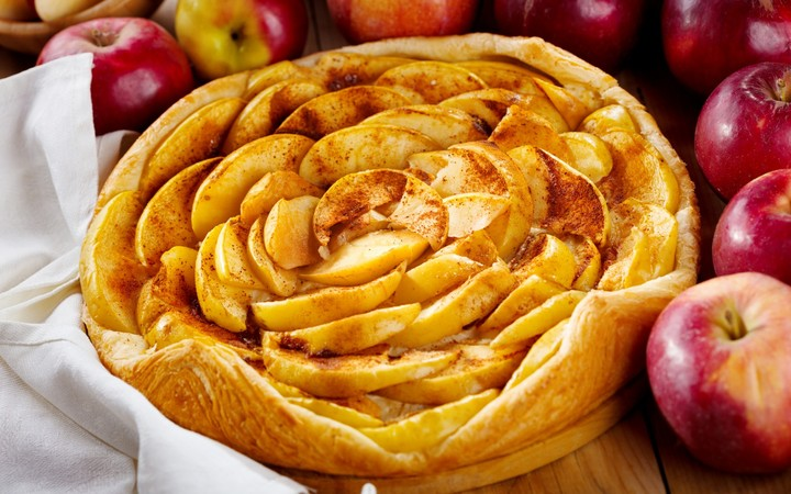 Pastries Pie Apple Pie Apple Napkin Cake Fruit Food For Party