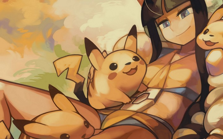 Pokemon Pikachu Girl Art