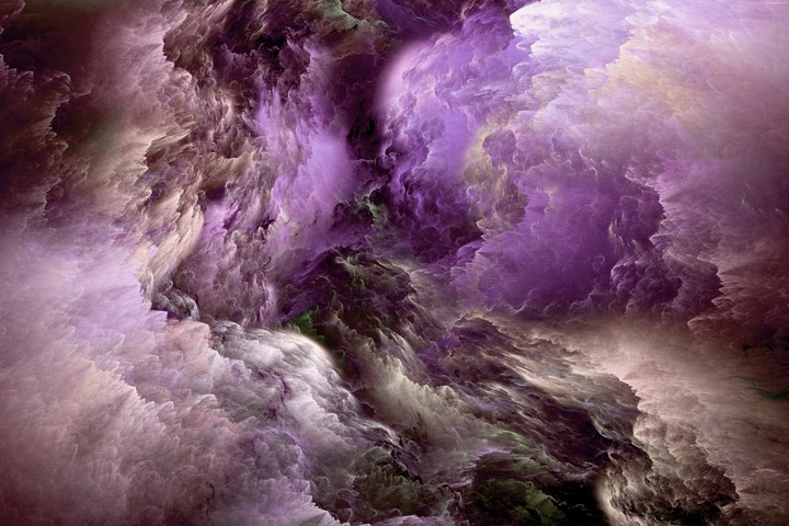 Purple, White, Clouds
