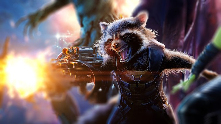 Rocket Raccoon Pumped Up By Awesome Design Game