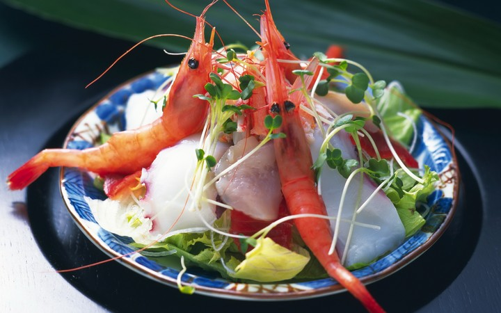 Salad Shrimp Decoration Delicious Beautifull Food