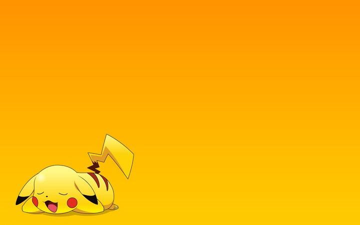 Sleep Rest Pokemon Pikachu Pokemon Pikachu Wallpaper Anime Cartoon