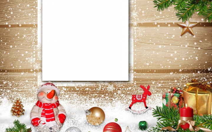 snowman christmas card hd insert text happy new year for family hd