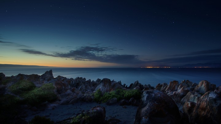 South Africa, Ocean, Night