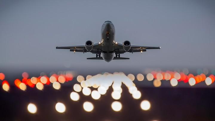 the plane take off lights wallpaper by jennymari