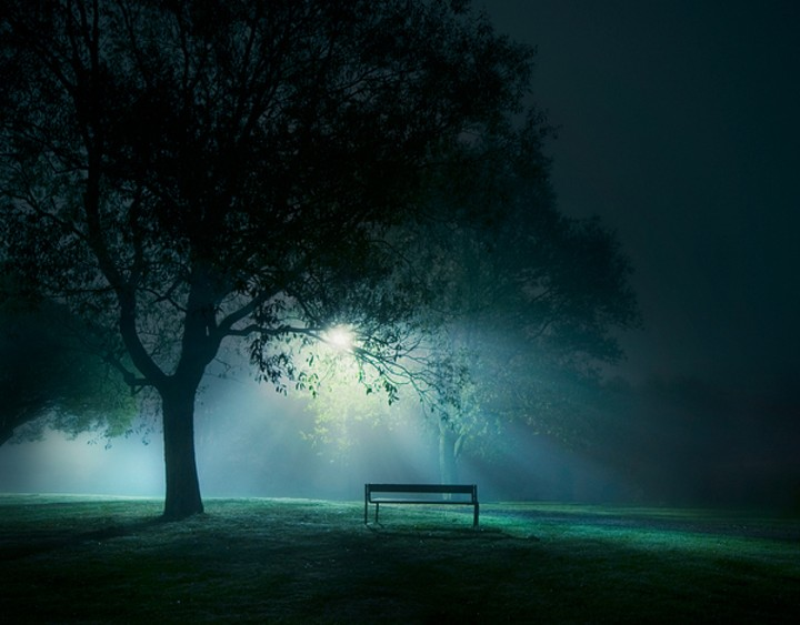 Strange Bench Under Tree In A Park During The Night Wallpaper By Inzonedesignstudio Interior Chair Design Inzonedesignstudiocom